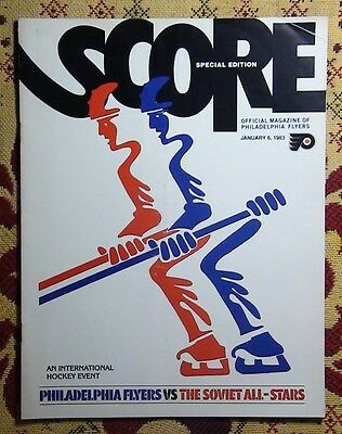 Programme friendly match Philadelphia Flyers - USSR 1983