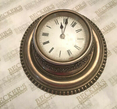 Antique Tiffany & Co Sterling Silver Desk Clock,  French VAP Movement