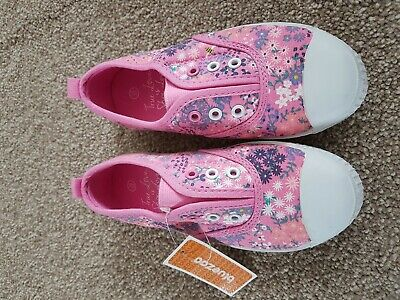 New With Tag Bluezoo Girls Lace Free Trainers Size 12
