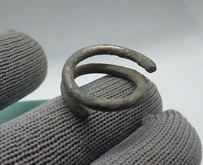 RARE Perfect Ancient Silver jewelry temporal Ring Viking Kievan Rus 9-12 AD #390