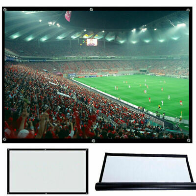 """100"""" Projector Video Projection Screen 16:9 Home Cinema Theater Manual Office"""