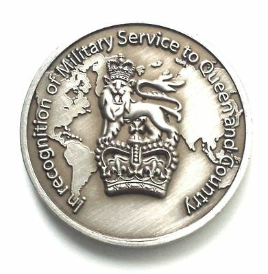 unique military coin design based on old shilling