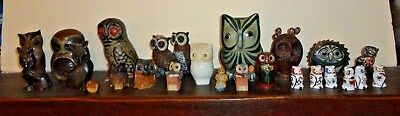 Collection HIBOUX CHOUETTES - + de 20 pieces Collection owl collection