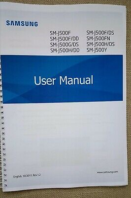 Printed Samsung Galaxy J5 J500F Instruction Manual User Guide  COLOUR 103 pages