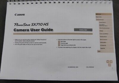 PRINTED Canon Powershot Sx710 HS Full color User guide Instruction manual A5