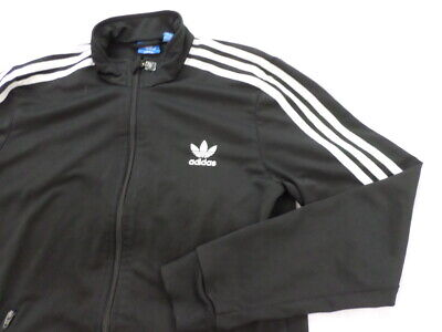 4c172936fd2f ADIDAS ORIGINALS FUUL ZIP YOUTH MENS 3 Stripes TRACK TOP JACKET Black Size  XL