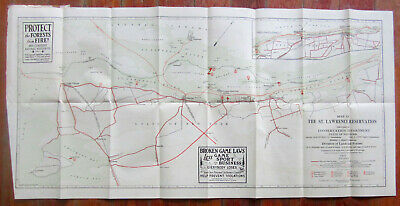 Map of St. Lawrence (New York) Reservation 1931 Conservation Dept., State of NY