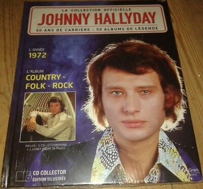 Neuf Scelle Johnny Hallyday Livre Et Cd L Annee 1972 Country Folk Rock