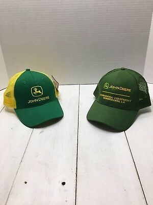 d91813328 JOHN DEERE MEN'S Twill and Mesh Cap Embroidery, Green, One Size ...