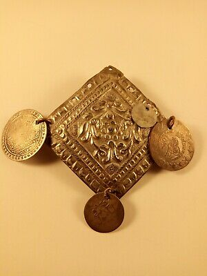 antique ottoman silver chest ornament islamic coins