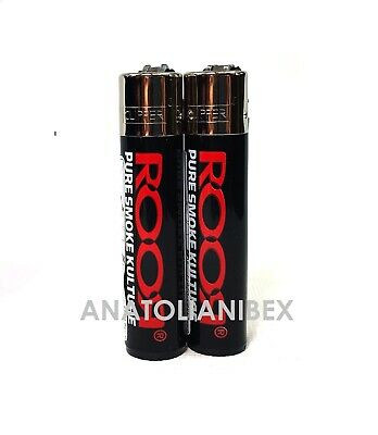 2 ROOR DESIGN Full Size Clipper Lighters Refillable Butane Cigarette Lighter