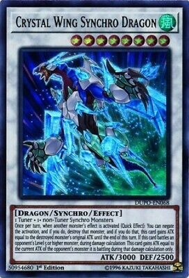 Crystal Wing Synchro Dragon (DUPO-EN068) - Ultra Rare - 1st Edition