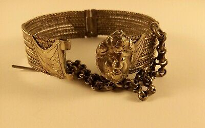 antique revolutionary greek sarakatsani ottoman silver bracelet