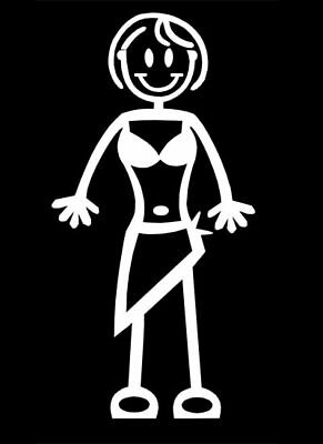 My Stick Figure Family Car Window Bumper Vinyl Decal Stickers F1 Bikini Sarong