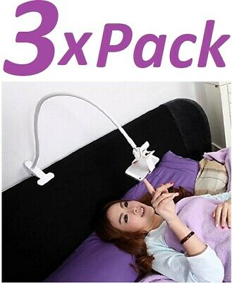 3X Flexible Clip Mobile Cell Phone Holder Lazy Bed Desktop Bracket Mount Stand