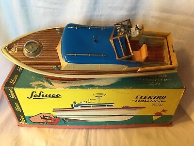 Schuco Elektro Nautico 5550 Boot / Boat W. Germany Boxed