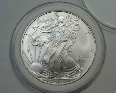 2008 American Silver Eagle ~ 1 Ounce Fine Silver ~ One Dollar Coin
