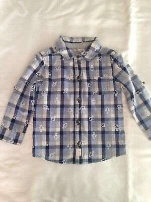 Baby Boys Long Sleeve Shirt 12-18 Months Mothercare