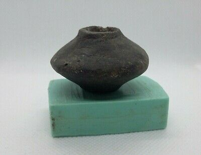 Superb Ancient Spindle Whorl Ceramic Bead Viking period 9-13 AD #1
