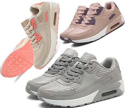 Womens Girls Trainers Gym Fitness Running Jogging Lace Up Sports Shoes Lady Size