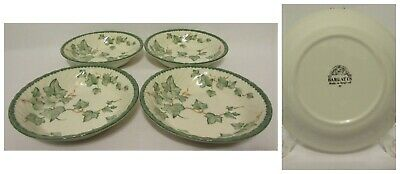 Barratts England COUNTRY VINE IVY Pattern Soup Bowls Set of 4 Discontinued 90s