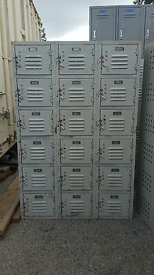 Vintage 6 high box lockers