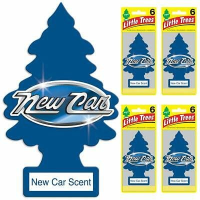 Little Trees Air Freshener New Car Scent, (Pack of 24)