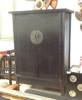 Antique Handmade Chinese Wedding Cabinet Armoire Wardrobe