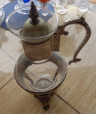 Coffee Carafe Warmer Glass Holder Raimond Silverplate