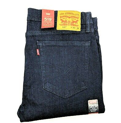 Levis 519 Mens W36 L34 Blue Jeans Extreme Skinny Denim Pants Levi's and Strauss