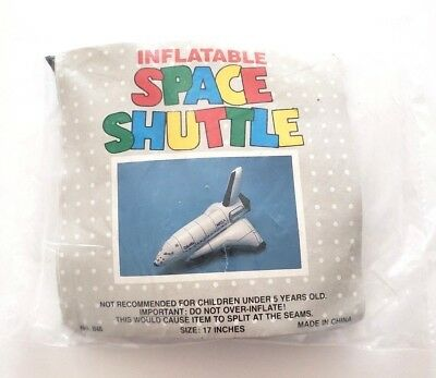 "VINTAGE 1980s NASA Columbia Space Shuttle Inflatable Decoration 17"" New NOS"