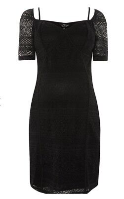 da20c5eb285ce TopShop - Maternity Black Sweetheart Neck Lace Shift Dress - Size 8 - BNWT