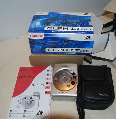 Canon Elph Lt260 Camera---With Case And Instruction Book