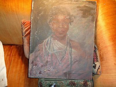 18-19th century-slave painting? O/C Ceremonial dress: most unusual find