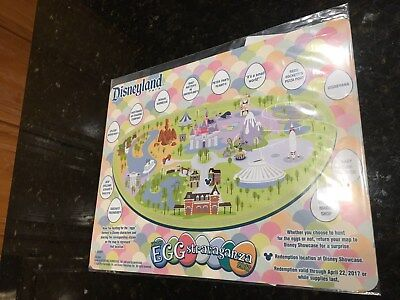NEW 2017 Disney Parks Disneyland Park Eggstravaganza Map and Stickers ONLY