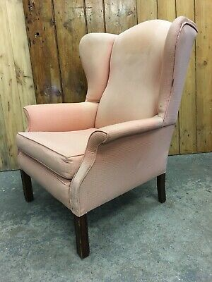 Vintage Edwardian Fireside Wingback Armchair. Great Shape. Delivery Available