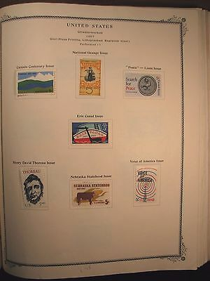 US Stamp Old Album Page Scott#  1323-1329 Mint Hinged C153