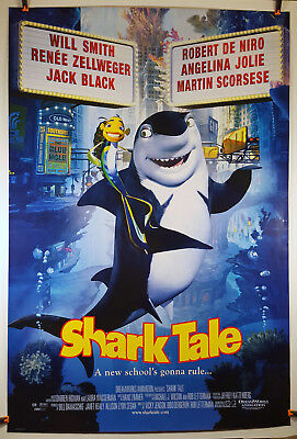 Shark Tale 2004 Original Movie Poster 27x40 Rolled, Double-Sided