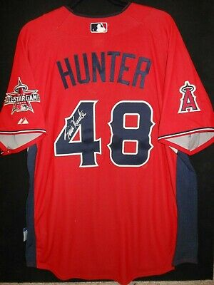 ddbc788e6ba Torii Hunter Signed 2010 All Star Jersey Auth. Majestic L.a. Angels - Very  Rare!
