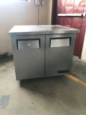 """True Tuc-36-24 36"""" Commercial Undercounter Refrigerator Cooler Used"""