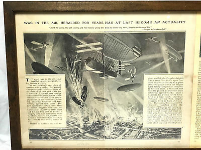 WWI - WAR IN THE AIR - Unique Framed Article - Zeppelin Warfare World 1 Aircraft