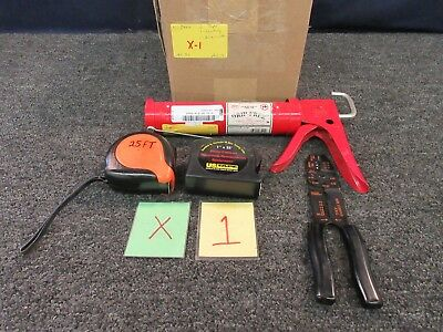 Wire Stripper Cutter Tape Assortment Caulking Gun 25' Rule Newport Us Tools