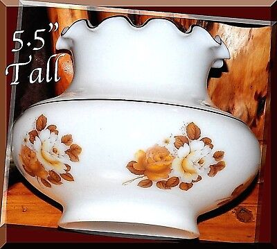 """Hurricane Victorian Gone With The Wind Lamp Shade Globe 5.5"""" Scallops Vintage"""