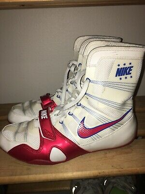 finest selection 319ac 51ed6 Rare Nike Manny Pacquiao Hyperko MP Trainer Boxing Shoes Boots Size 10 White