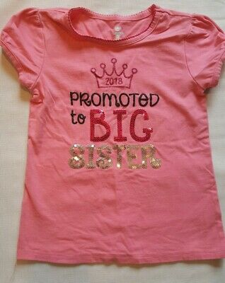 Promoted To Big Sister 2018 Youth T-Shirt Expecting Baby Gift
