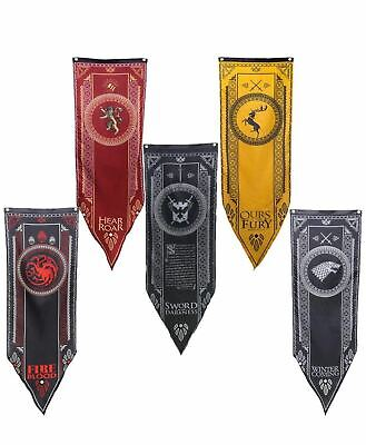 Game of Thrones GOT House Sigil Tournament Banner Flag Poster Wall Decals 61x17""