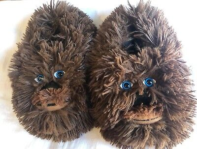 Star Wars CHEWBACCA FURRY 3D Slippers SIZE SMALL