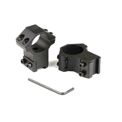 Tactical 1 Pair 30mm Ring Scope 11mm Rail Mount Flashlight Laser High Profile