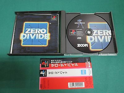 PlayStation -- ZERO DIVIDE -- PS1. JAPAN. work fully. 15181