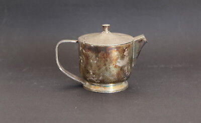 BARI BROGGI Antique Silver Plate Art Deco Modernist Design Creamer Pitcher ITALY